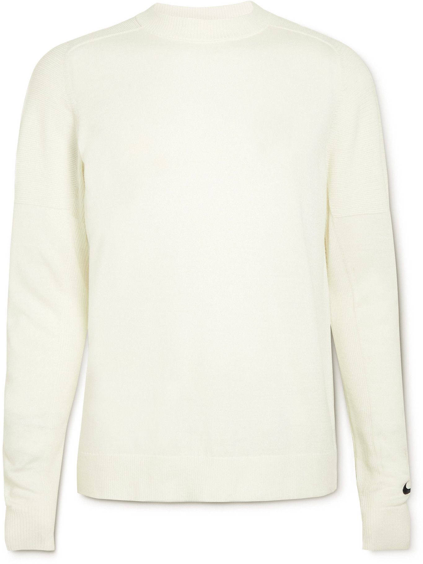 Photo: Nike Golf - Tiger Woods Logo-Embroidered Wool-Blend Sweater - White