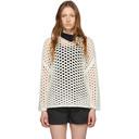 3.1 Phillip Lim White Wool Open Knit Sweater