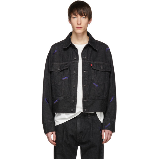 Photo: Feng Chen Wang Black Levis Edition Embroidered Denim Jacket