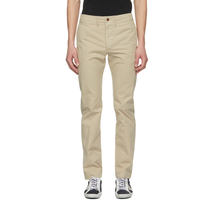 Photo: RRL Beige Chino Officer Fit Trousers
