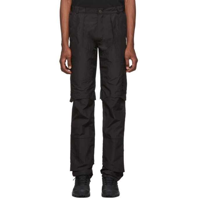 Photo: Heliot Emil Black Technical Layered Trousers