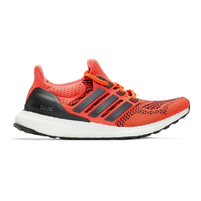 Photo: adidas Originals Red and Black UltraBOOST Sneakers