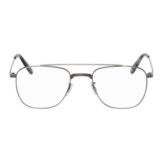 Photo: Garrett Leight Gunmetal Riviera Glasses