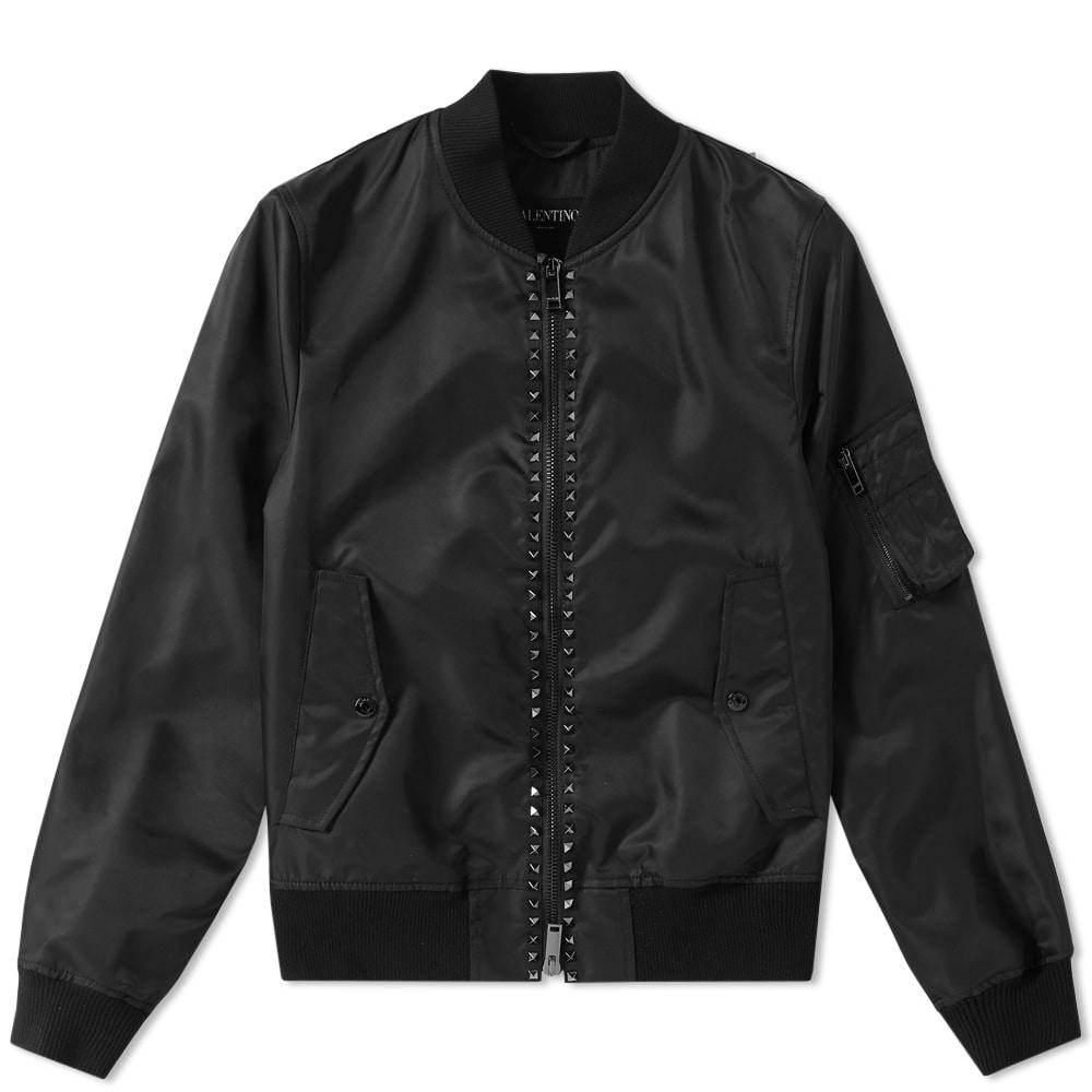 Photo: Valentino Rockstud Untitled MA-1 Jacket