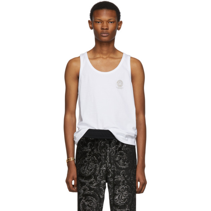 Photo: Versace Underwear White Medusa Tank Top