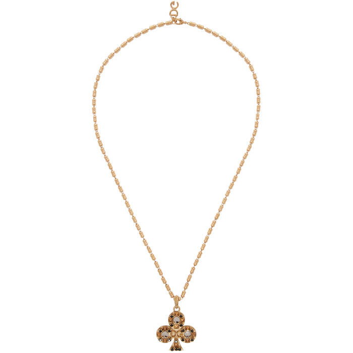 Photo: Dolce and Gabbana Gold Clubs Necklace