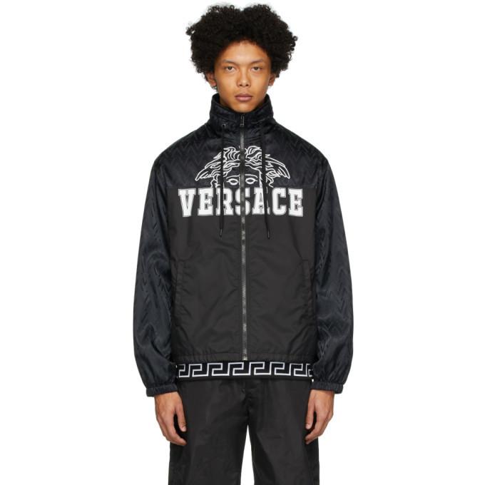 Photo: Versace Black Nylon Medusa Windbreaker Jacket
