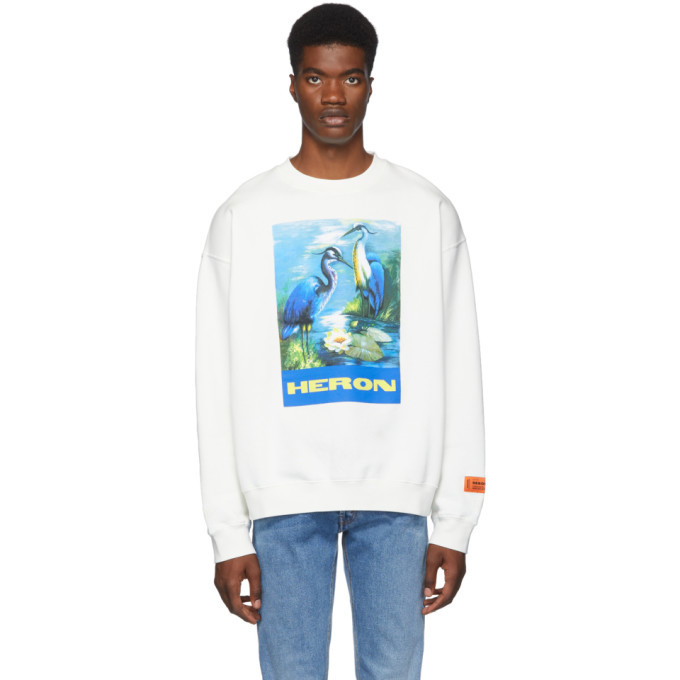 Photo: Heron Preston White Heron Birds Sweatshirt
