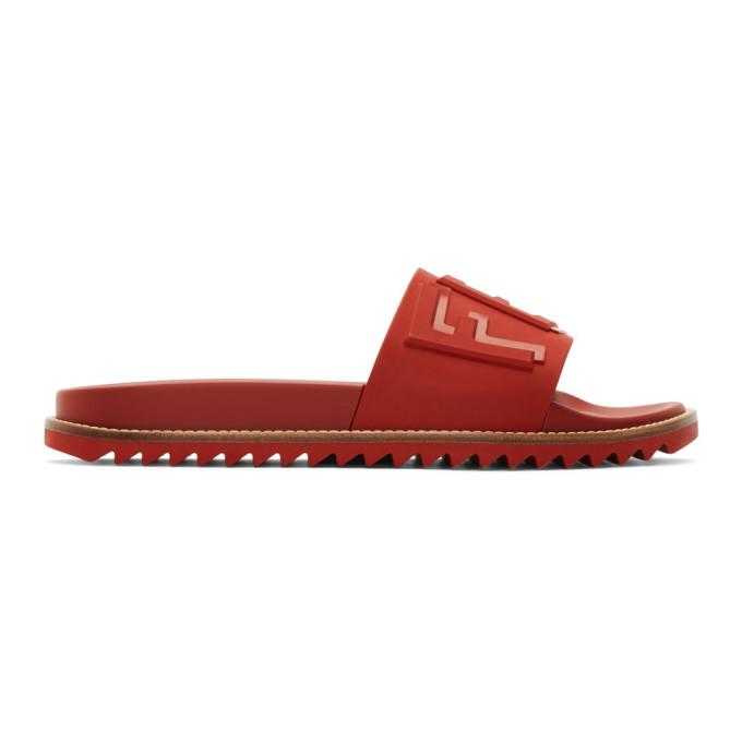Photo: Fendi Red Fendi Vocabulary Sandals