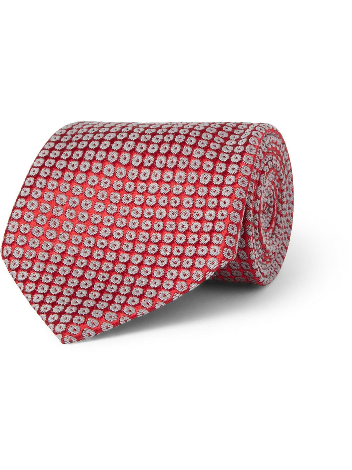 Photo: CHARVET - Patterned Silk and Wool-Blend Tie