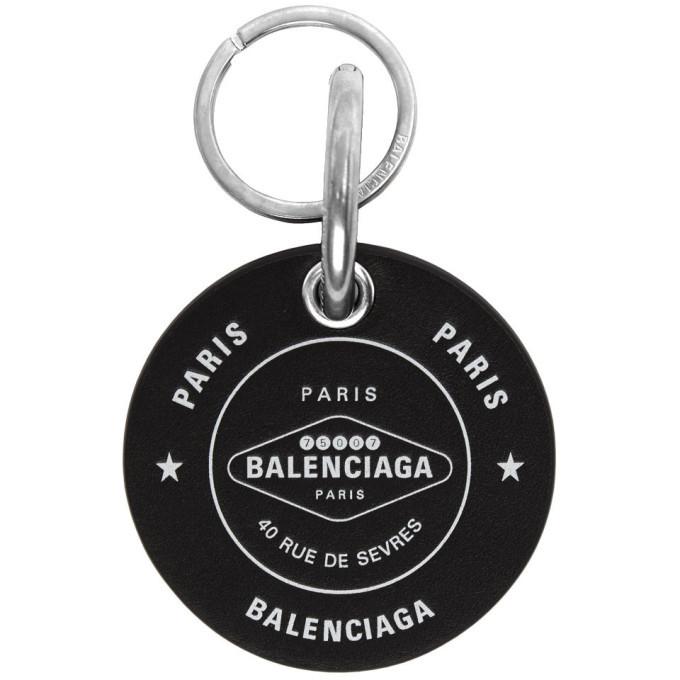 Photo: Balenciaga Black Casino Round Keychain