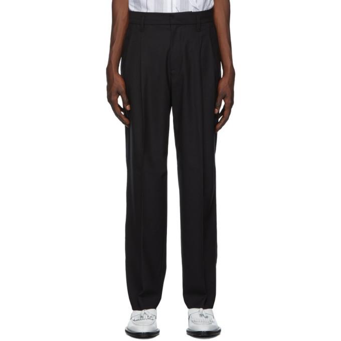 3.1 Phillip Lim Black Wool Full Leg Trousers