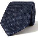 GIORGIO ARMANI - 8cm Silk and Cotton-Blend Jacquard Tie - Blue
