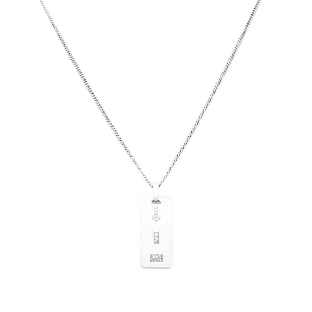 Photo: Saint Laurent YSL Plaque Pendant Necklace
