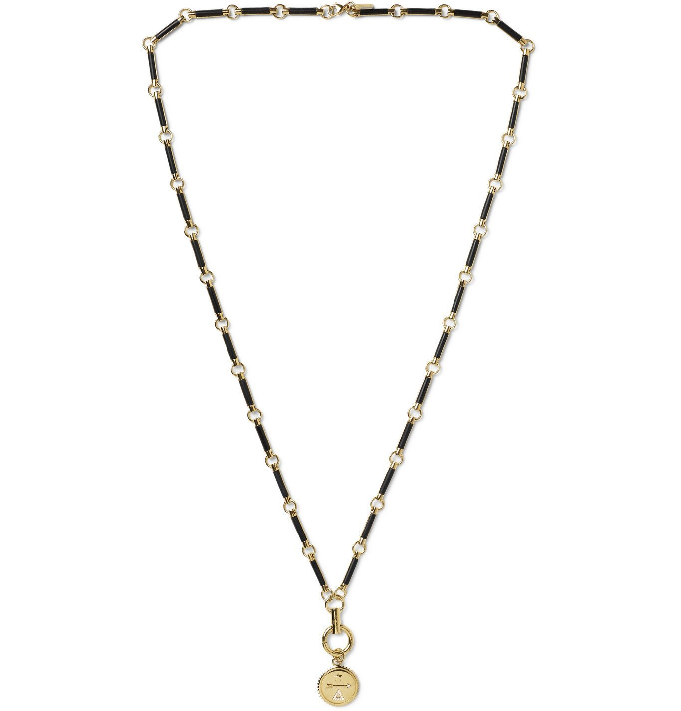Photo: Foundrae - Dream 18-Karat Gold, Diamond and Onyx Necklace - Gold