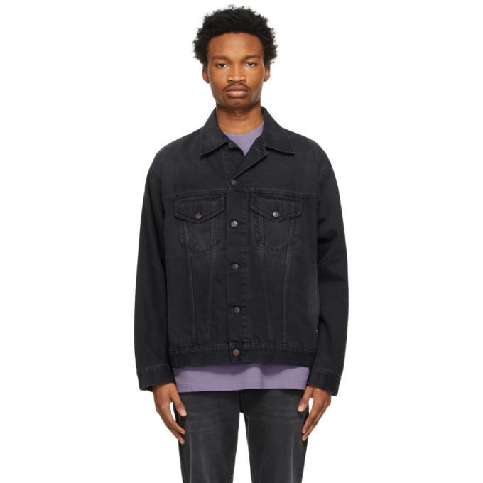 Photo: Acne Studios Black Denim Washed Jacket