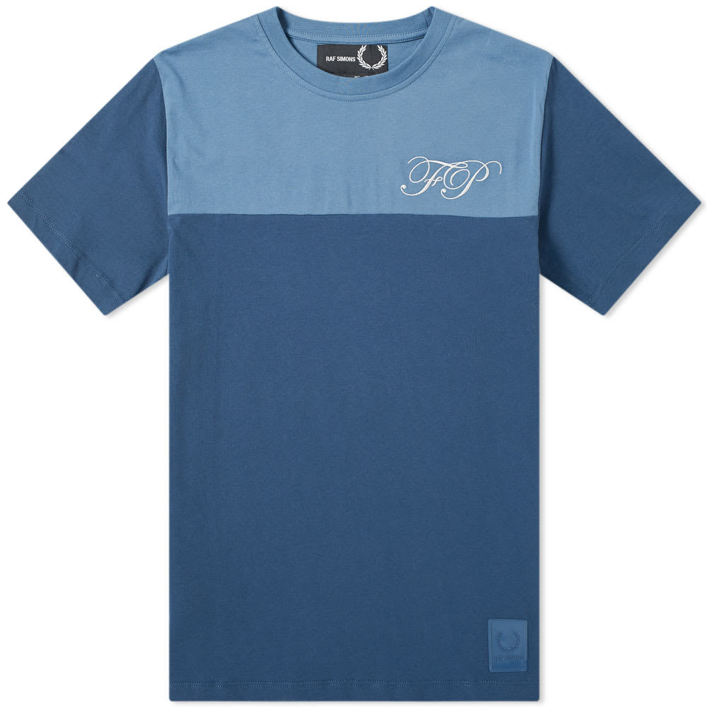 Raf Simons x Fred Perry Embroidered Initial Tee Peacock Blue