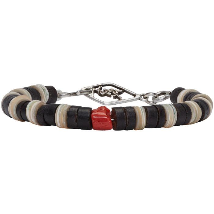 Photo: Saint Laurent Tricolor Beaded Bracelet