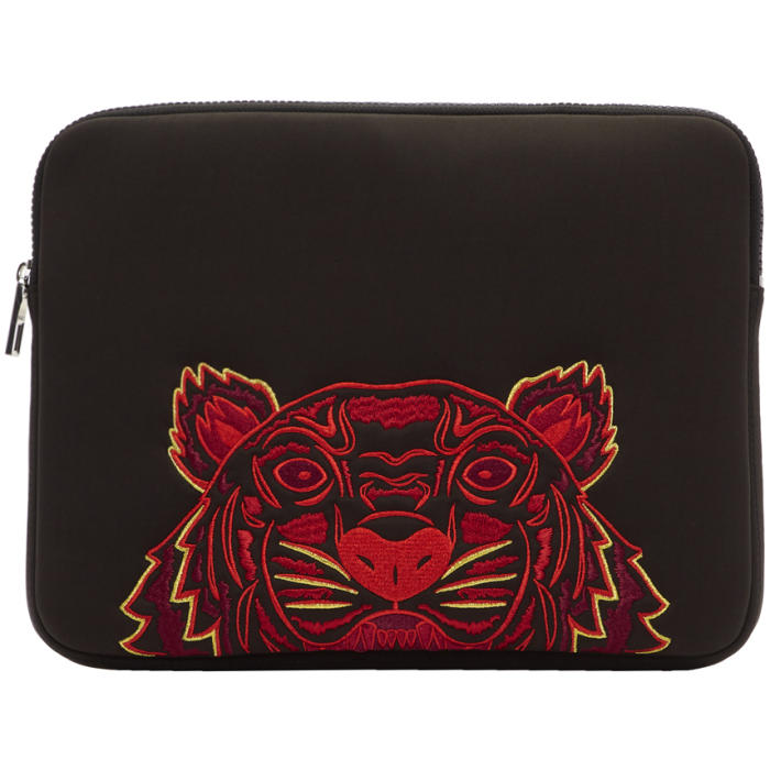 Photo: Kenzo Black Neoprene Chinese New Year Tiger Laptop Case