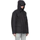 C.P. Company Black Down Goggle Hood Utility Jacket