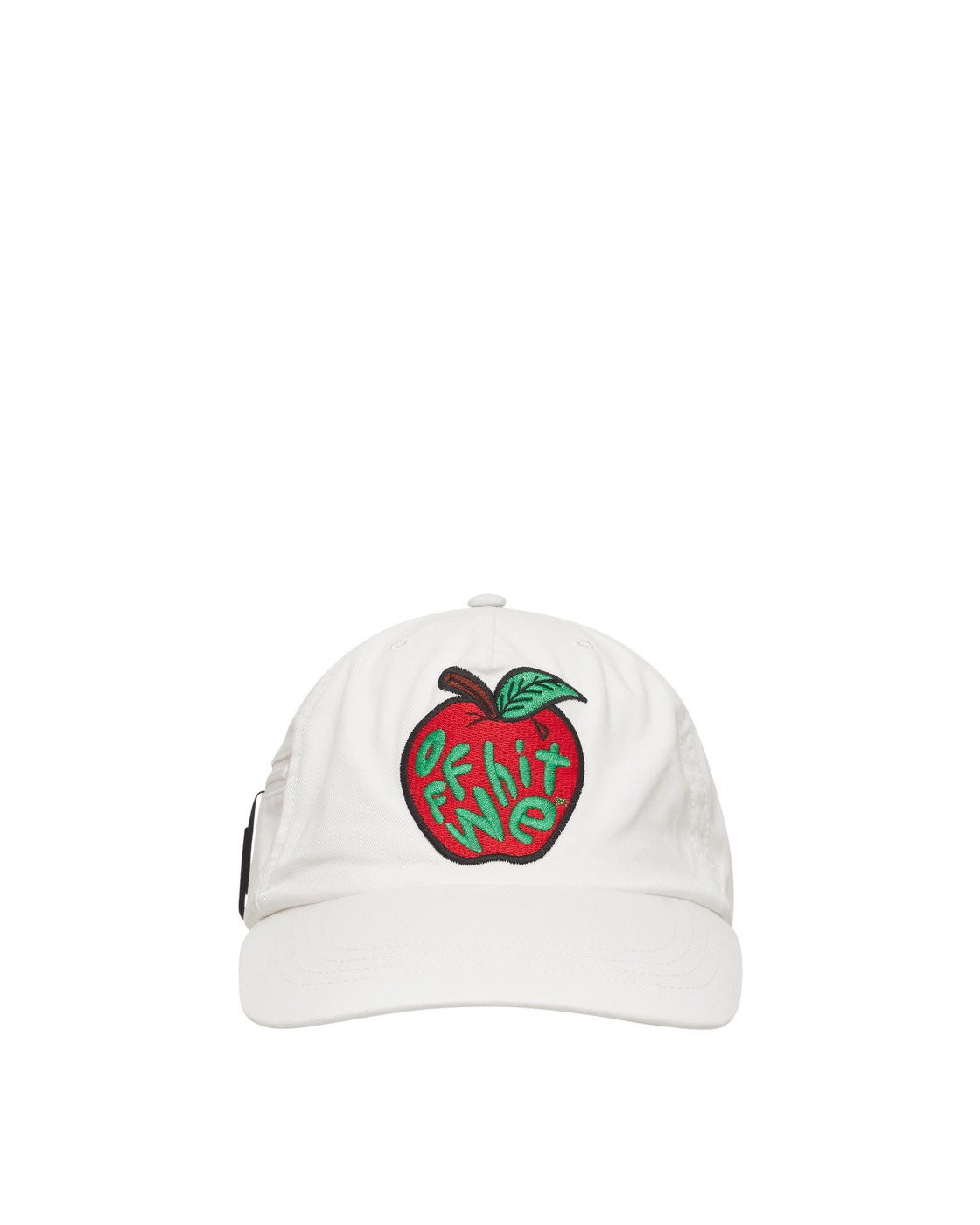 Photo: Off White Apple Paperclip Cap White/Red