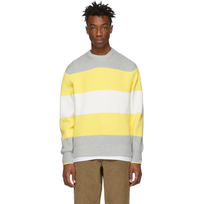 Photo: rag and bone Grey and Yellow Kirke Sweater
