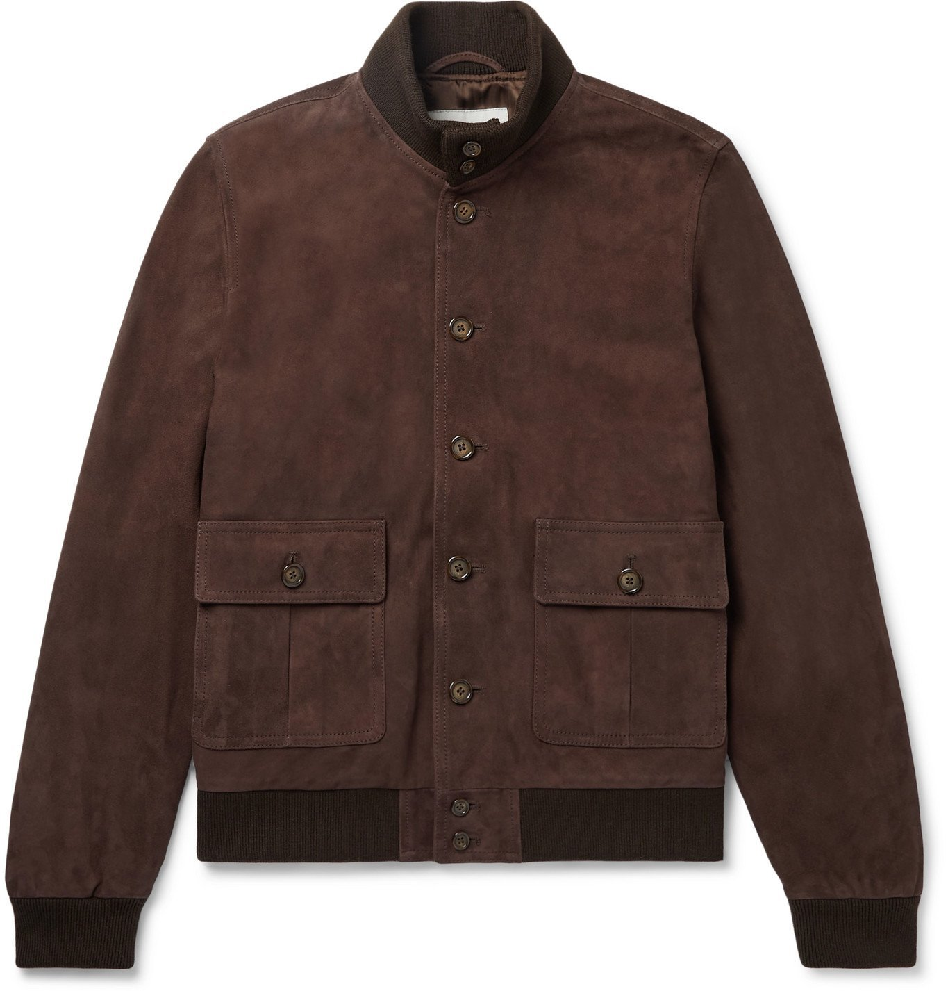 Photo: Valstar - Valstarino Suede Bomber Jacket - Brown