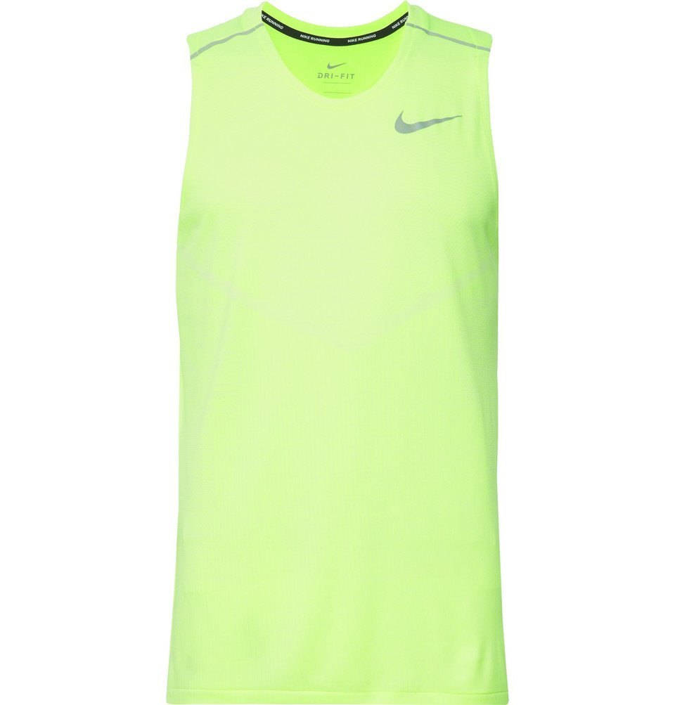Photo: Nike Running - TechKnit Cool Dri-FIT Tank Top - Bright green