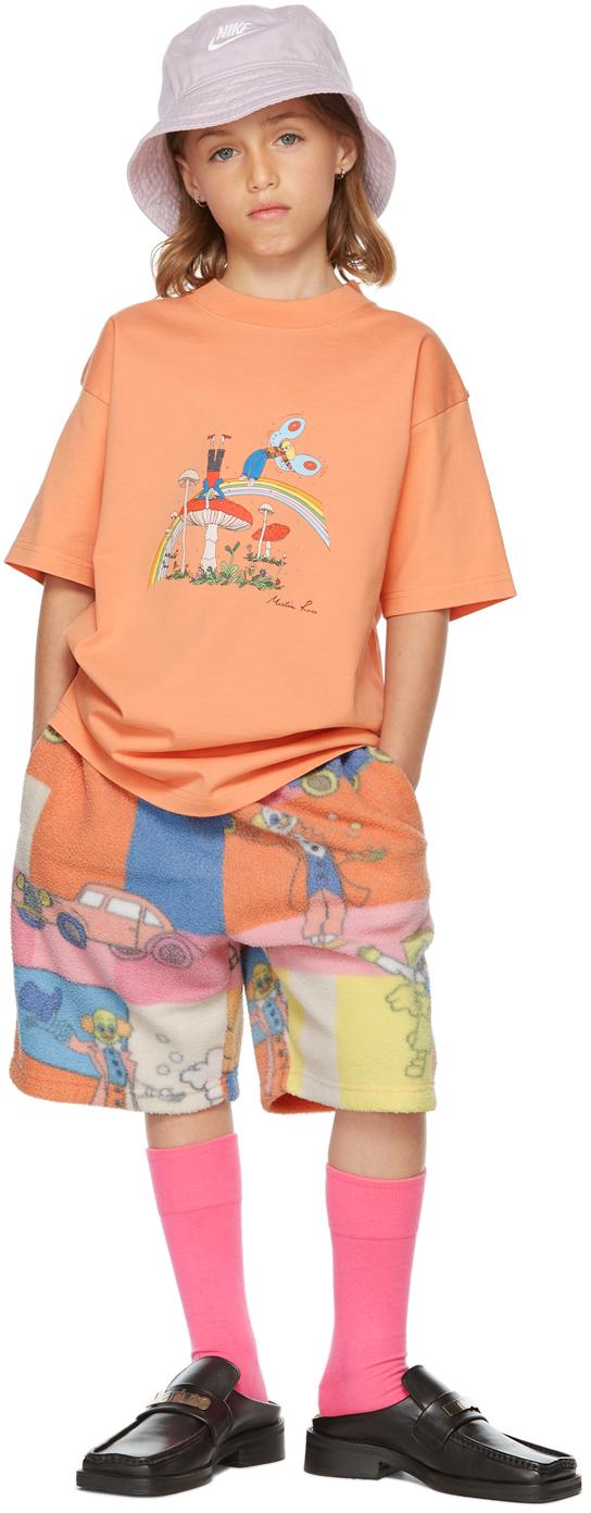 Photo: Martine Rose SSENSE Exclusive Kids Orange Brittle T-Shirt