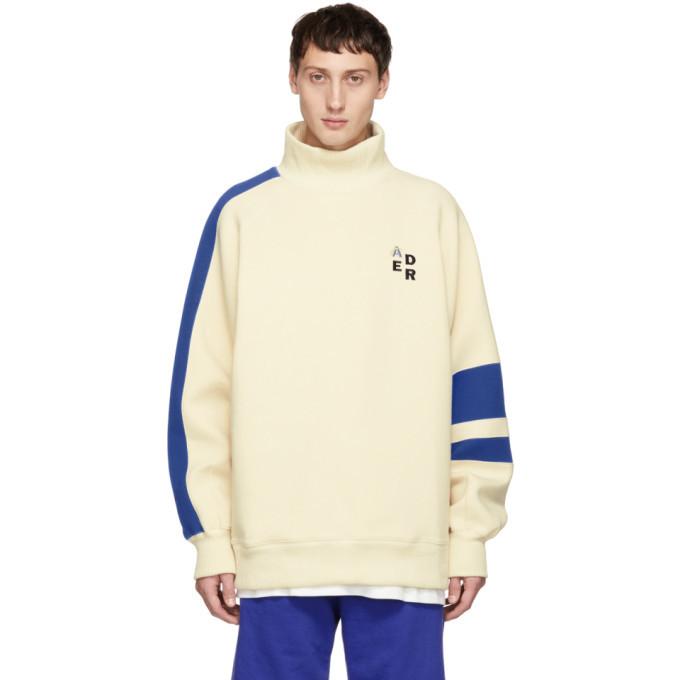 Photo: ADER error Off-White Mock Neck Sweatshirt