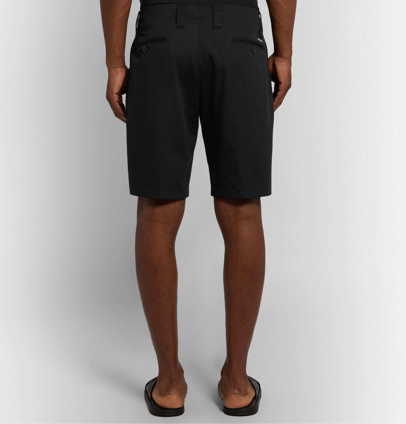 Dolce & Gabbana - Pleated Cotton-Blend Drill Shorts - Black