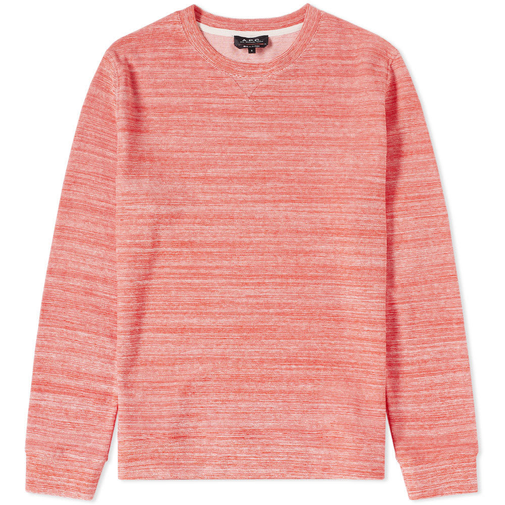 Photo: A.P.C. Max Crew Sweat Red