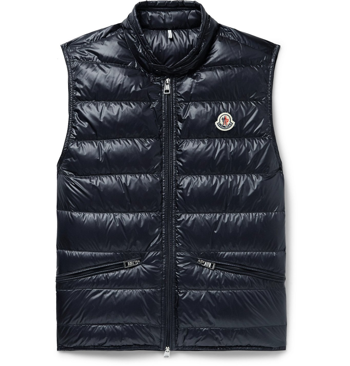 Photo: MONCLER - Quilted Shell Down Gilet - Blue