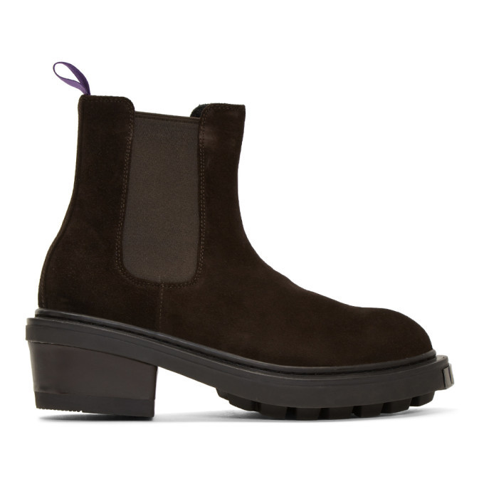 Photo: Eytys Brown Suede Nikita Chelsea Boots