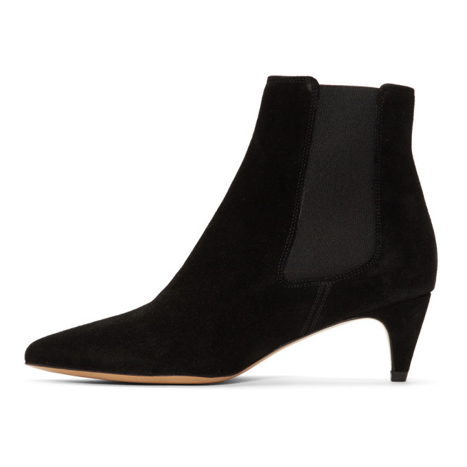 Isabel Marant Black Suede Detty Boots