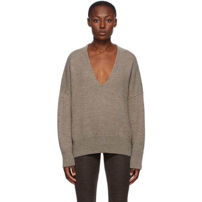 Photo: Lauren Manoogian Brown Big V-Neck Sweater