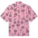 Aries - Camp-Collar Printed Voile Shirt - Pink