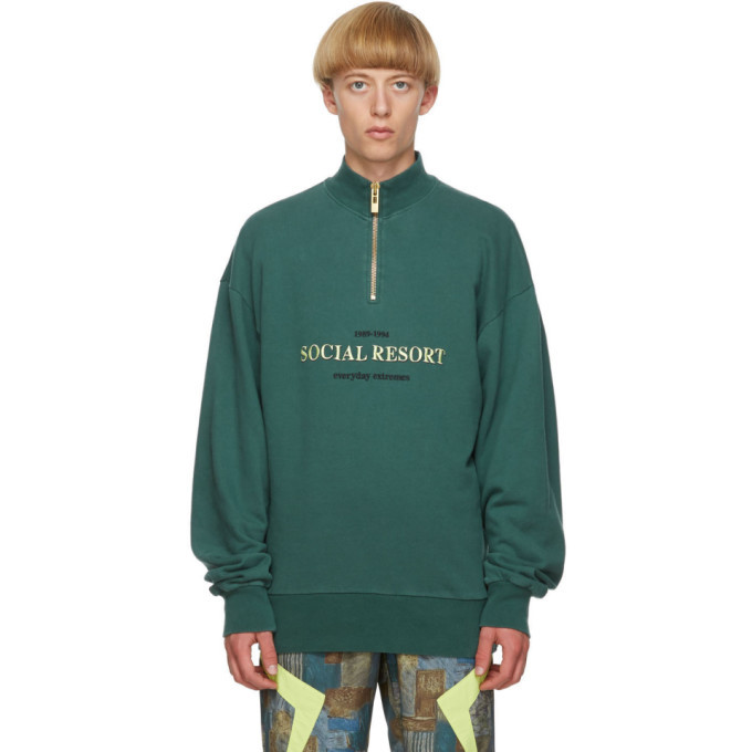 Photo: Han Kjobenhavn Green Half-Zip Sweatshirt