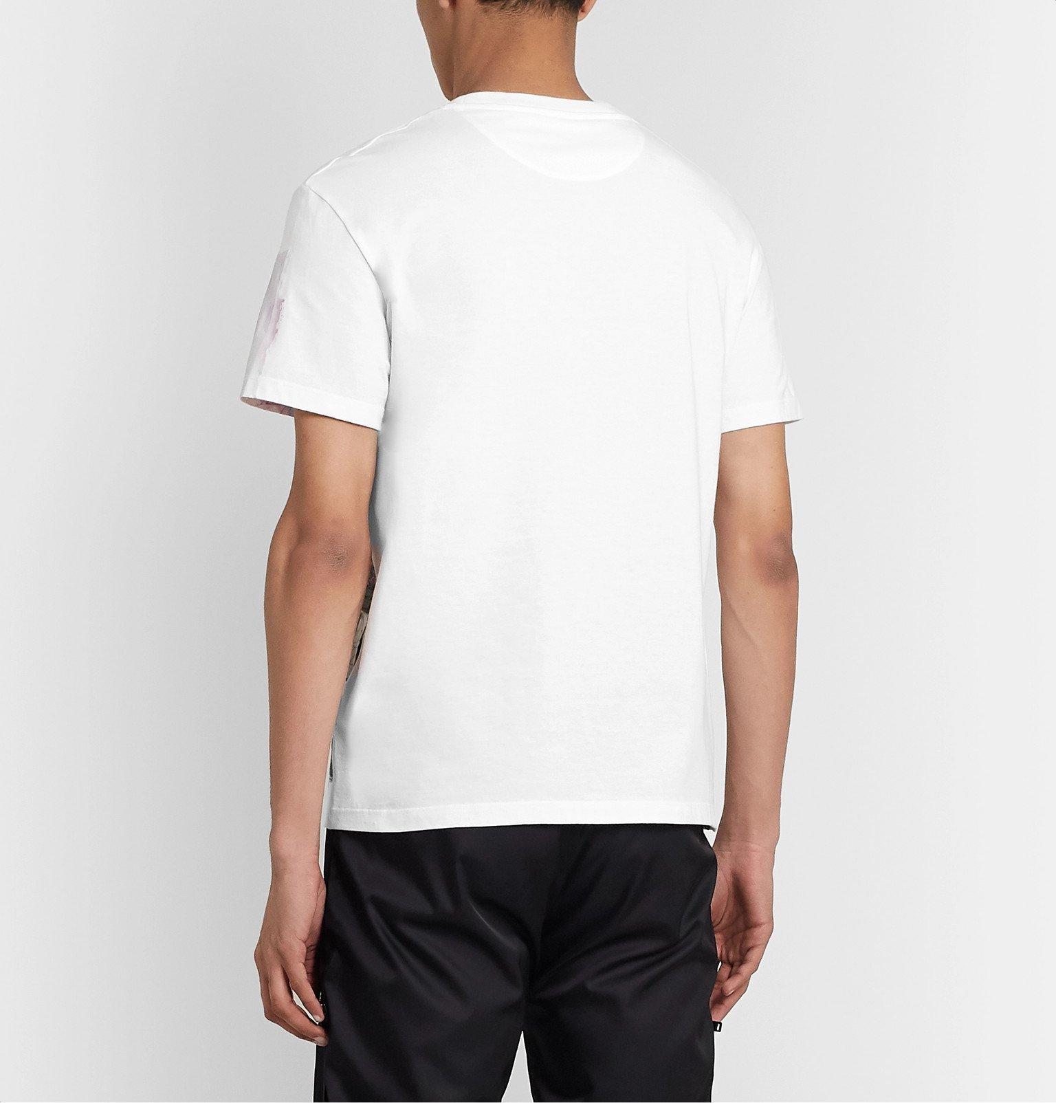 Valentino - Slim-Fit Printed Cotton-Jersey T-Shirt - White
