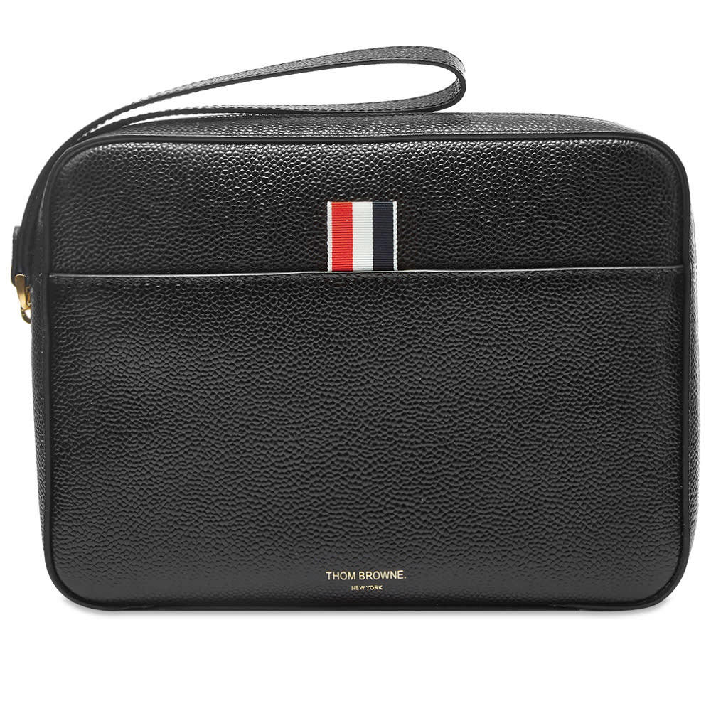 Photo: Thom Browne Leather Pouch Bag with Strap