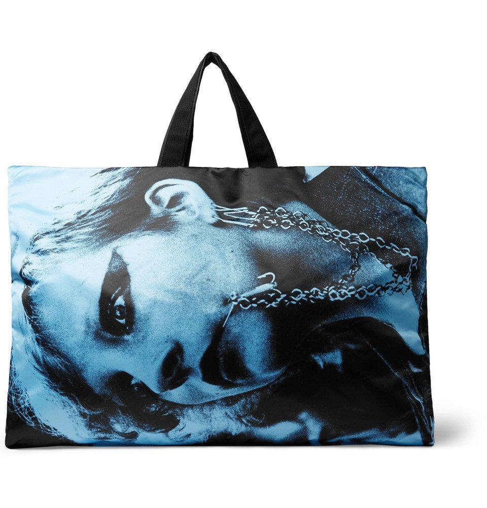 Photo: Raf Simons - Eastpak Printed Shell and Cotton-Canvas Holdall - Blue