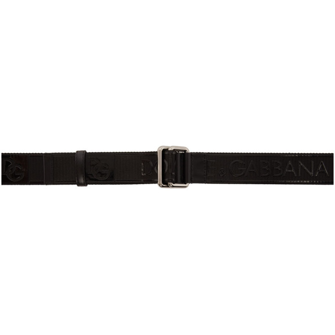 Photo: Dolce and Gabbana Black Strap Logo Belt