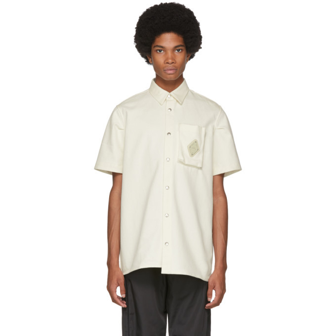 Photo: A-Cold-Wall* Off-White Short Sleeve Pocket Shirt