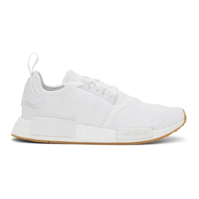 Photo: adidas Originals White NMD R1 Sneakers