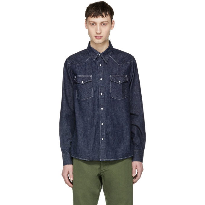 Photo: Visvim Blue Denim Social Sculpture Shirt