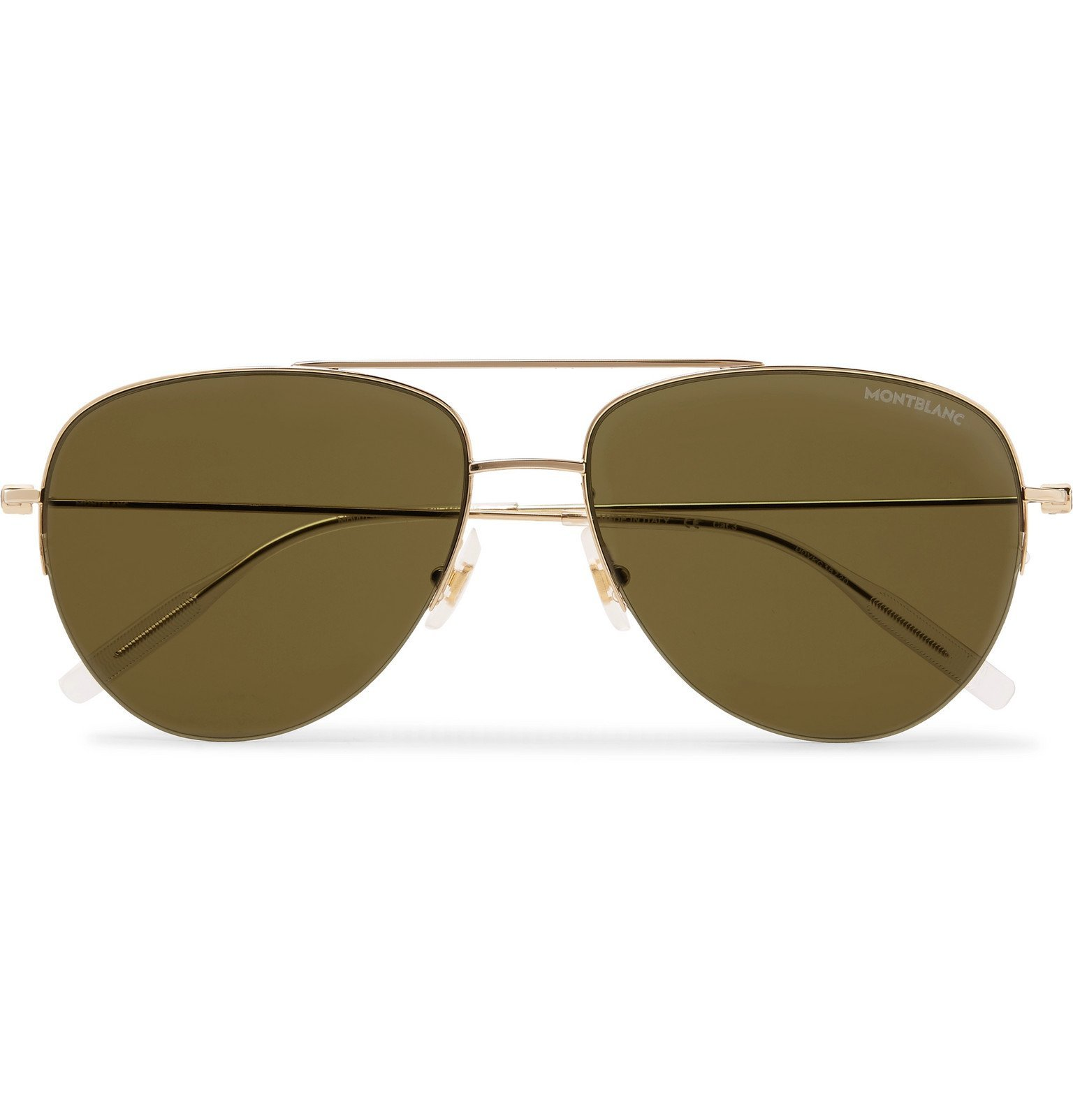Photo: Montblanc - Aviator-Style Gold-Tone Sunglasses - Gold