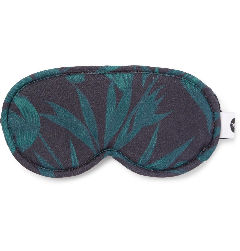 Photo: Desmond & Dempsey - Byron Printed Cotton Eye Mask - Men - Green