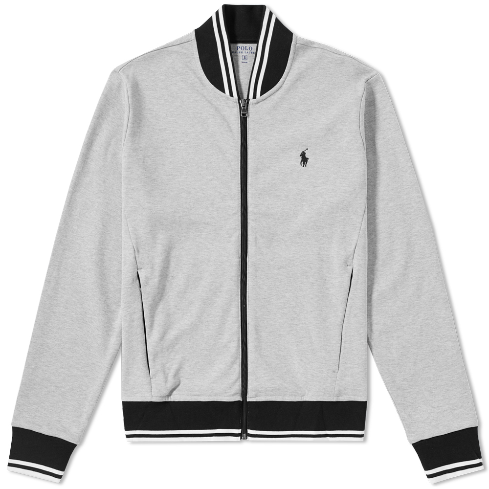 Photo: Polo Ralph Lauren Tipped Jersey Bomber Jacket
