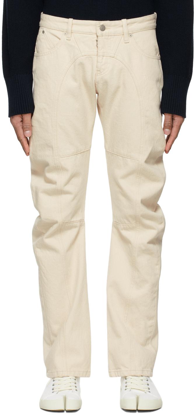 Photo: Maison Margiela Off-White Upcycled Modified Pocket Jeans