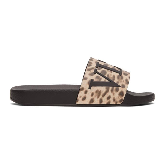 Photo: Valentino Brown Valentino Garavani VLTN Cheetah Slides